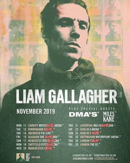 Lunedì 11 Parte il tour Uk di Liam Gallagher!