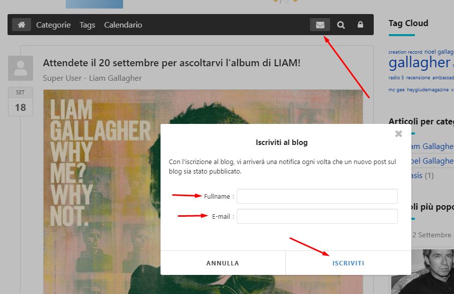 Iscriviti al Blog per essere sempre aggiornato!