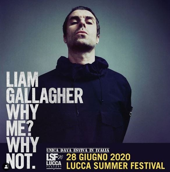 Liam Gallagher al Lucca Summer Festival 2020