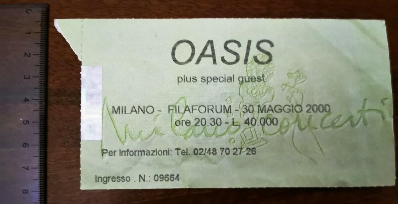 20 anni dal concerto degli Oasis a Filaforum di Milano