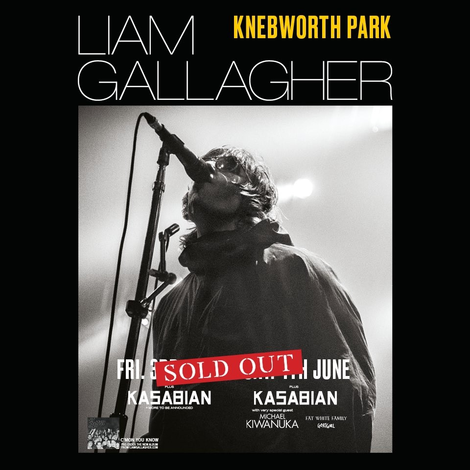 Liam Gallagher a Knebworth Sold out!